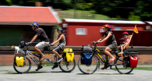 Family returns from 6000km cycle-camping trip